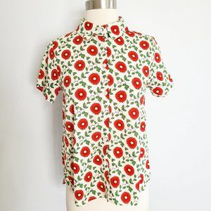MODCLOTH Compania Fantastica floral button up shirt